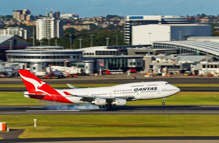 Terminal 1 de l'aéroport international Kingsford Smith, Sydney, Australie